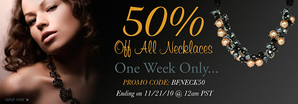 50% OFF all necklaces