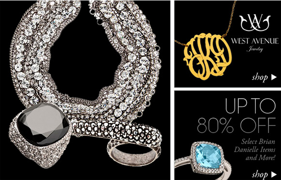 Up to 80% OFF on fashion jewelry