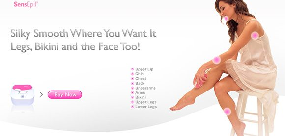 November 10% Coupon for the home hair removal SensEpil