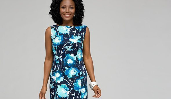 Floral Sheath Dress @ JNY