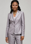 Grey Pinstripe 2 Button Jacket
