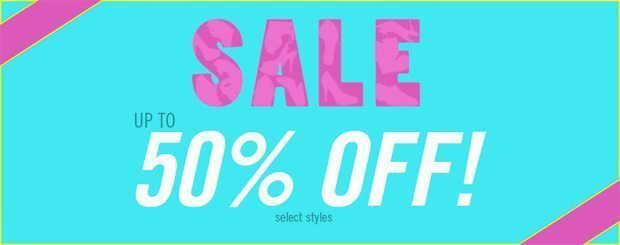 Summer shoes on sale – 50% OFF