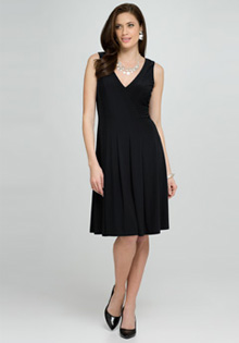 Black V-Neck Dress @ Jones New York