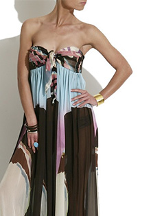 Extravagant bandeau dress