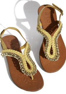 Sandals with rhinestones