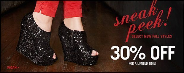 Sneak Peek Sale – Fall Styles @ Steve Madden