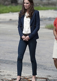 Kate Middleton in fall 2011 jeans