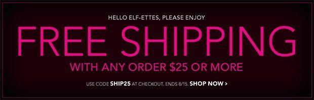 Free shipping @ elf Cosmetics