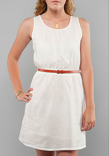 Woven Cotton Belted Dress