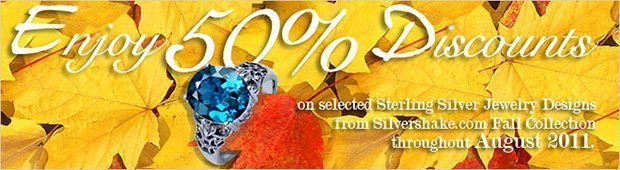 Silver jewelry – 50% OFF on Fall 2011 Collection