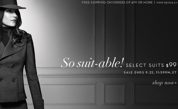 All suits $99 + free shipping