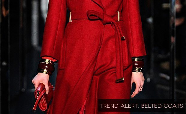 Belted coats for Fall/Winter 2011-2012