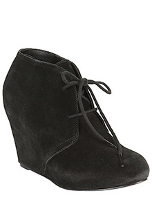 Galaxey Black Suede Wedge