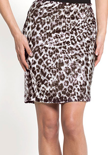 CHEETAH SEQUIN PENCIL SKIRT