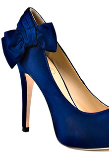 Ivanka Trump Ciry in dark blue satin