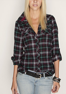 Rolled Cuff Flannel Shirt