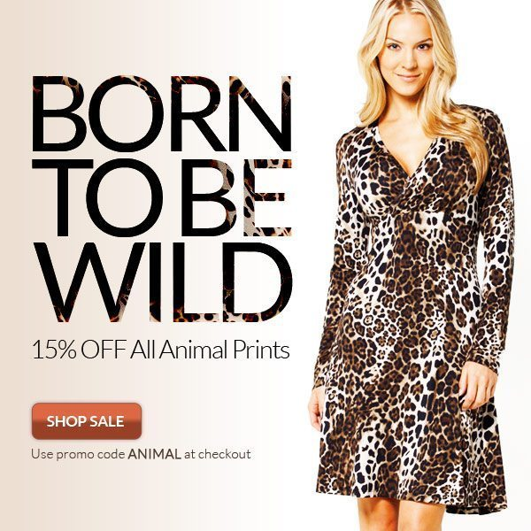 Save 15% Off Animal Prints