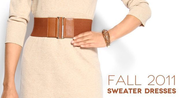 Sweater dresses for fall 2011
