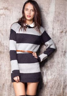 Motel Rocks Stripes Sweater
