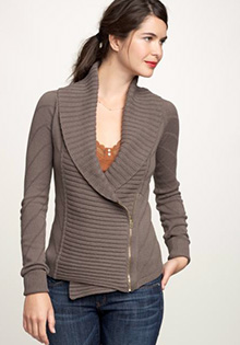 Off-center zip sweater