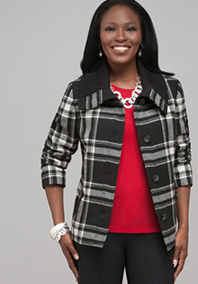 Jackets for fall: Plaid jacket