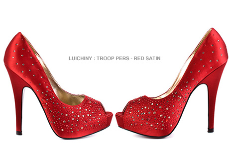 Red Shoes: The Embellished Rhinestones