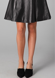 Adam A Line Leather Skirt