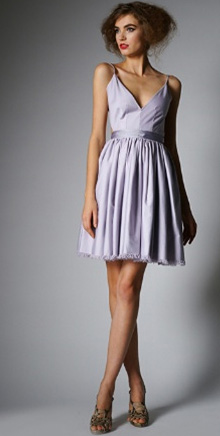 Contrarian Barbara Bibb Dress in Lavender