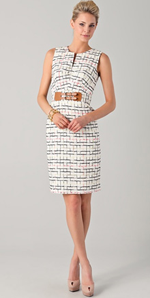 Mariella Tweed Pencil Dress