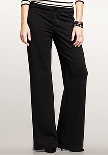 Ponte wide-leg trouser pants