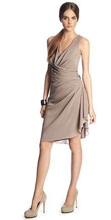 RELAXED V NECK DRESS