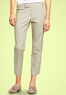 Slim cropped refined pants