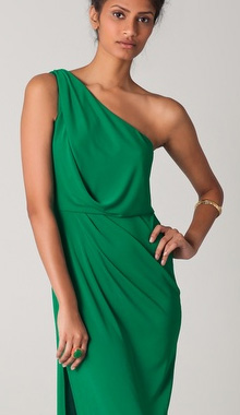 Snejana One Shoulder Gown BCBG