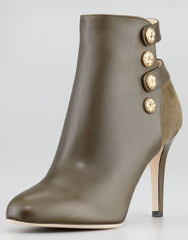Jimmy Choo Troop Button Strap Ankle Bootie