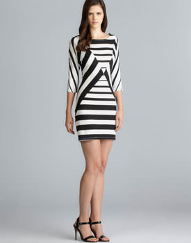 Loehmanns sale Stitch Contrasting Stripe Dress