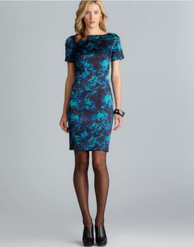 Loehmanns sale Tahari Floral Printed Dress
