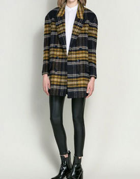 Wear tartan Brown Wool Coat In Grid