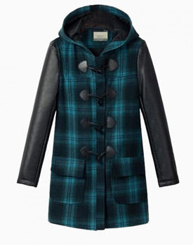 Vintage Plaid Duffle Coat