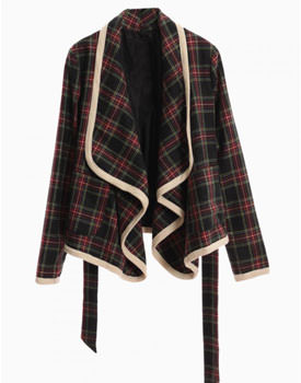 Checked Waterfall Blazer