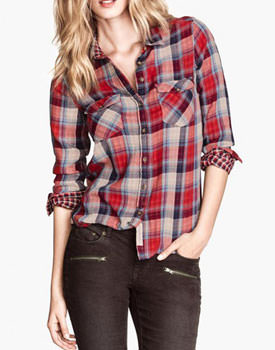 Wear tartan Red Checked Pocket Shirt
