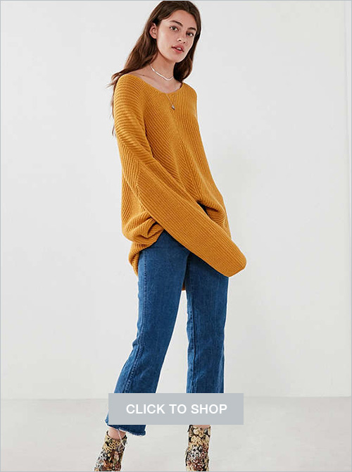 BDG Harper knit highlow sweater