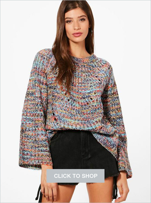 Kerry Space dyed flared sleeve sweater