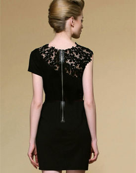 Lace dress - back