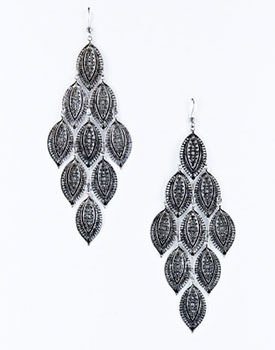 Burnt silver tone earrings