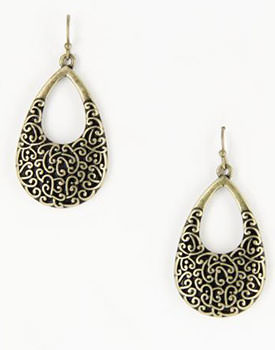Antique gold tone earrings