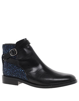 Markus Lupfer Glitter Wrap Flat Ankle Boots