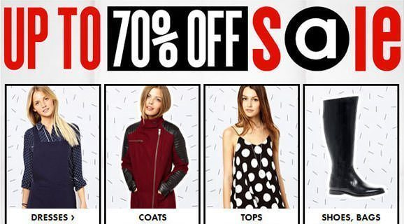 Up to 70% OFF ASOS SALE starts now!