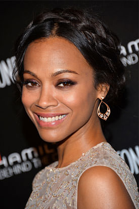 braided hair Zoe Saldana