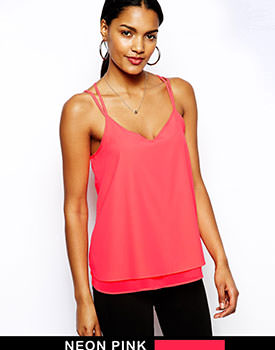 River Island pink top outfit
