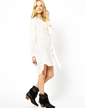 White Dresses Online Pepe Jeans